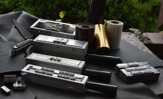 leather engraving debossing hot foil stamping gold blocking